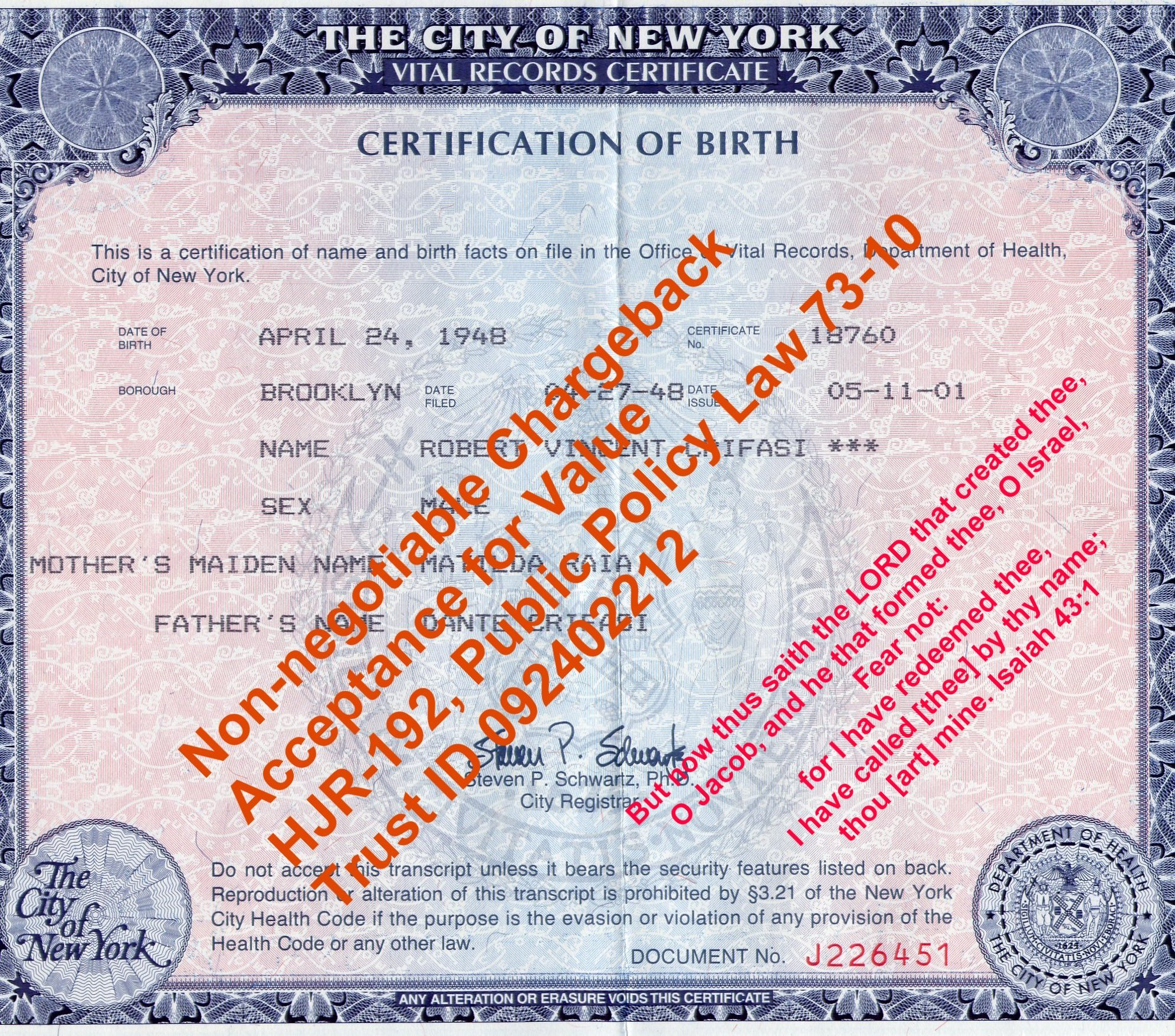 Bruddah robbob attorney in fact stakeholder in special v copy of certification of birth 18760 aiddatafo Gallery